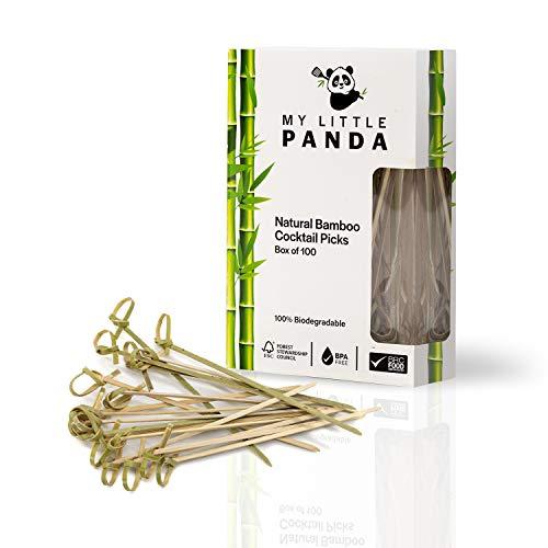 Stuzzichini per cocktail in bambù con un disegno a nodo avvolto, Naturali e biodegradabili, Indispensabili per migliorare la...