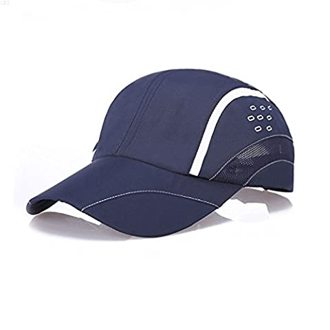 GADIEMKENSD Quick Dry Sports Hat Lightweight Breathable Soft Outdoor Run Cap (Raindrops series, Navy)