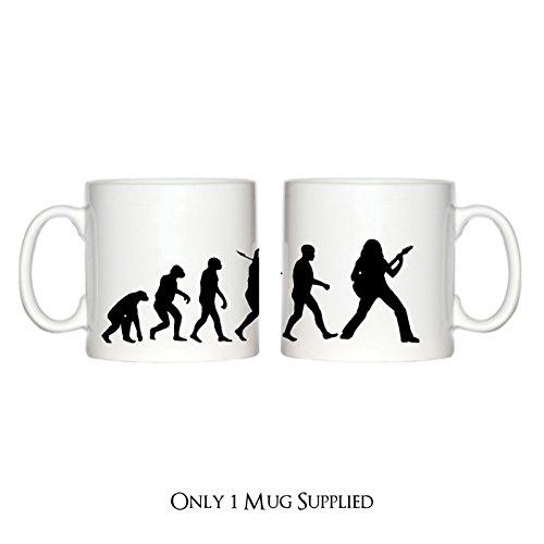 Motiv Gitarrist Evolution eines 6oz Espresso Tasse