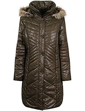 Eliza Gray mujer talla grande invierno acolchado abrigo anorak Mujer Resistente Al Agua Largo Hasta la rodilla...