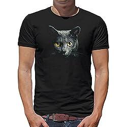 TLM Gato de la belleza Camiseta para hombre T-Shirt XXL negro