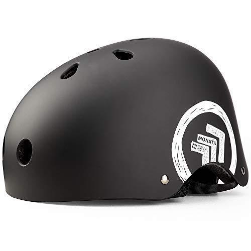 BaseCamp Fahrradhelm mit Abnehmbaren Schutzbrille Visier (Schwarz)