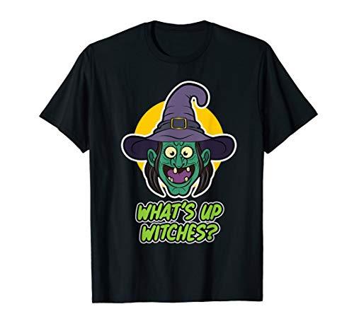 Funny Halloween Hexen Hexe What's up Witches Damen Herren  T-Shirt (Blaue Haare Hexe Halloween)