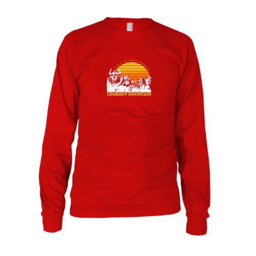 Lookout Mountain - Herren Langarm T-Shirt, Größe: XXL, Farbe: rot