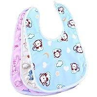 Babygo Waterproof Baby Apron with Bib (Pack of 3)