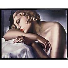 Tamara De Lempicka Poster Kunstdruck und Kunststoff-Rahmen - La Dormeuse (80 x 60cm)