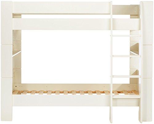 Steens For Kids Kinderbett/Etagenbett, inkl. Lattenrost und Absturzsicherung, Liegefläche 90 x 200 cm, MDF, weiß