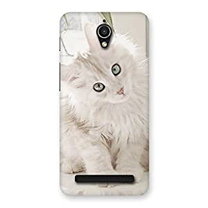 Cute Look Kitty Back Case Cover for Zenfone Go