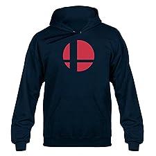 NerdShirts Smash Bros Tribute Unisex Hoodie Hoody Hooded Sweater Navy Blue Extra Large