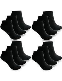 12à 60 paires de chaussettes basses pour hommes et femmes, socquettes de sport en coton, noir, blanc, 35-38, 39-42, 43-46
