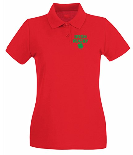 Cotton Island - Polo pour femme TRUG0157 irish rugby light logo Rouge