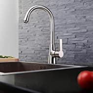 SHUYOU® Contemporary Nickel Brushed One Hole Single Handle Brass Kitchen Faucet