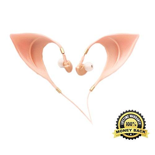 Elf Niedliche Earbuds Ultra-Weiche Schnur Kopfhörer Fee entzückend Cosplay Headset Geist Kostüm Zubehör Spielzeug EF00001