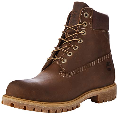 Timberland Heritage 6 Inch Premium Waterproof Stivali Uomo, Marrone (Medium Brown Nubuck), 41.5 EU