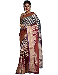 Hawai Trendy and Traditional Leaf Designed Georgette Saree