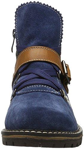 Andrea Conti 3002727, Bottes Classiques femme Bleu - Blau (Jeans/Cognac 359)