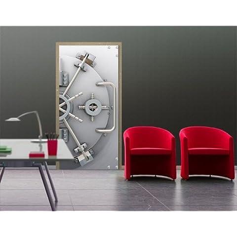 Fotomural para puerta con cola no19 'SAFE POWER' 100x210cm, Größe:210cm x 100cm