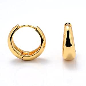 Big Kaju Bali's Smooth finish 18K Gold Salman khan Style Hoop/Huggie HQ Earrings Studs
