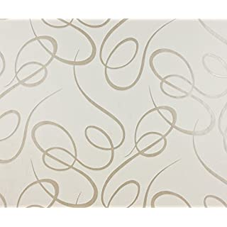 Dutch Wallcoverings 6803-0 Curly Wallpaper - Beige