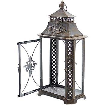 SIDCO Metall Laterne Barock Windlicht Kerzenhalter
