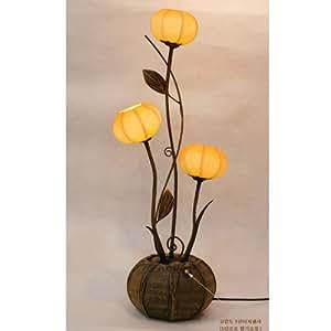 Lampe Salon Trois Lumière Sensitive Papier Hanji Ambiance Asie Design Anémone