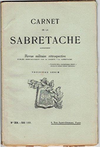 Carnet de la Sabretache, n 305, avril 1926.