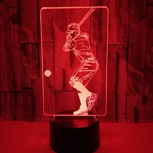 Lightlv Nachtlichter & Schlummerleuchten Neuer Baseball, 3D-Nachtlicht, Usb-Stromversorgung, Farbenfrohe Led-Anzeige, Helles Geschenk Eins, Dekorative Tischlampe-Crack
