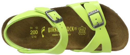 Birkenstock Rio, Sandales mixte enfant Vert (Green Glow)