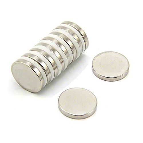 Magnet Expert® 20mm diamètre x 3mm N35 néodyme aimant, 3,6kg force d'adhérence, pack de 10