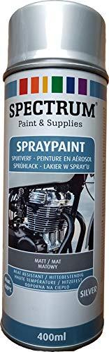 VE-Professional Motorenlack Spray Ofenlack Auspufflack Hitzefester Lack Ofenfarbe silber 800°C