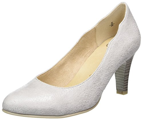 Caprice Damen 22406 Pumps Grau (LT Grey Suede)