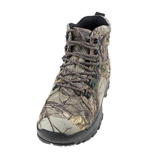 MagiDeal Stivali Da Caccia Tattici Da Uomo Camo Tattici Impermeabili Scarpe Da Trekking Antiscivolo - Camuffare, 45
