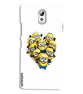 Omnam Minions laughing and getting photo clicked for Lenovo Vibe P1 M
