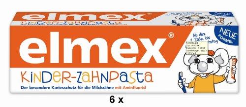 6 elmex Kinder-Zahnpasta Zahncreme je 50 ml