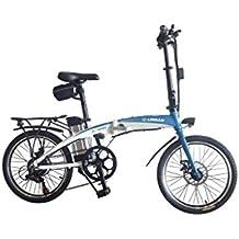 Helliot Bikes by 02 Bicicleta Eléctrica Plegable, Adultos Unisex, Blanca/Azul, ...