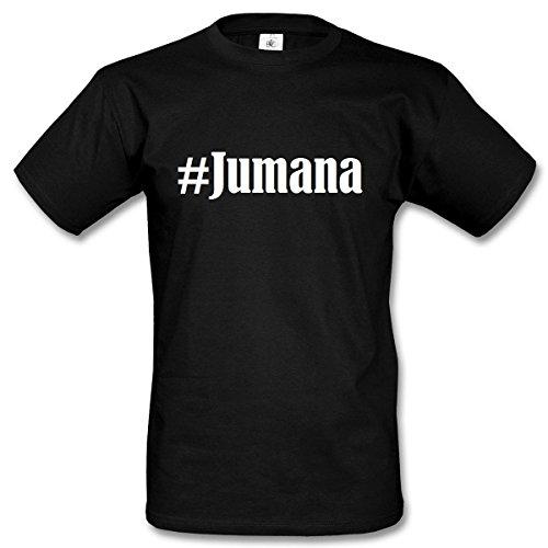 T-Shirt #Jumana Hashtag Raute für Damen Herren und Kinder ... in den Farben Schwarz und Weiss Schwarz