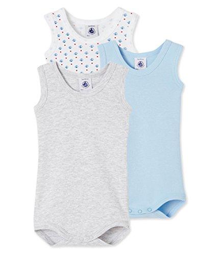 Petit Bateau Baby-Jungen Body SM_23528, 3er Pack, Mehrfarbig (Special 00), 62 (3m/60cm)