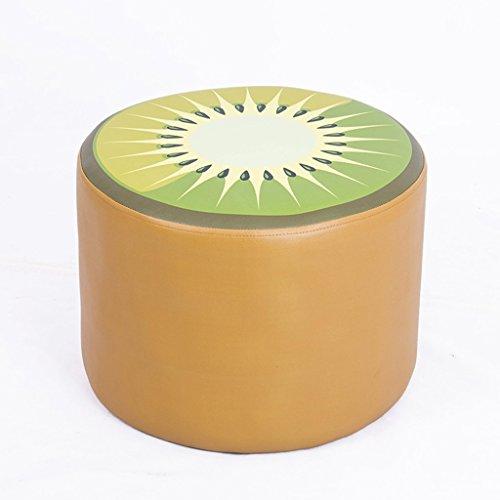 Dessin animé fruits enfant tabouret en cuir souple tabouret bébé apprentissage tabouret 40 * 40 * 30cm (Color : Brown)