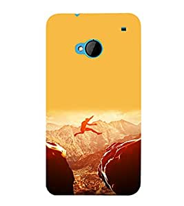 printtech Amazing Jump Sports Back Case Cover for HTC M7