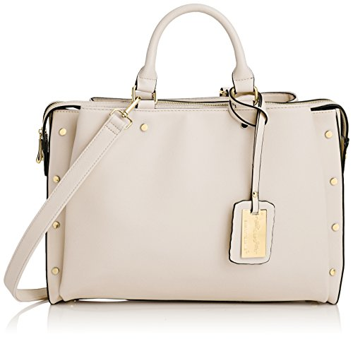 SwankySwans - Michelle Pu Leather Work, Sacchetto Donna Beige (Beige (Off White))