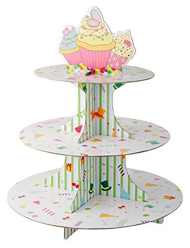 Zenker 43532 - Soporte de 3 pisos para cupcake