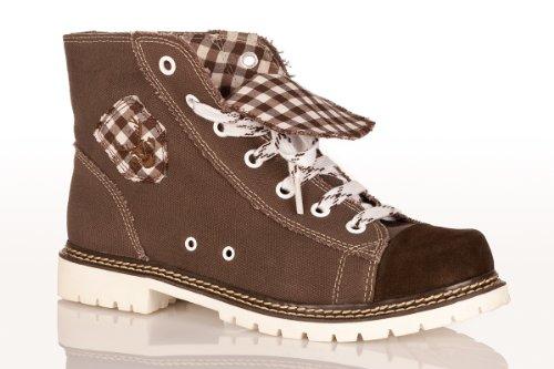 Trachten Herren Sneaker - JACK - braun/ruß/d-braun, Größe 45