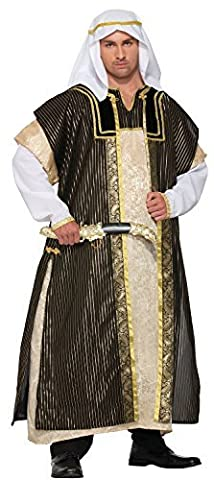Pour Hommes Deluxe Arabe Cheikh arabe Halloween Déguisement Costume Tenue 3XL XXXL 56