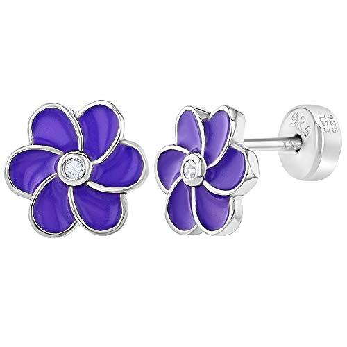 für Mädchen, 925 Sterlingsilber, lilafarbene Emaille Gänseblümchen ()