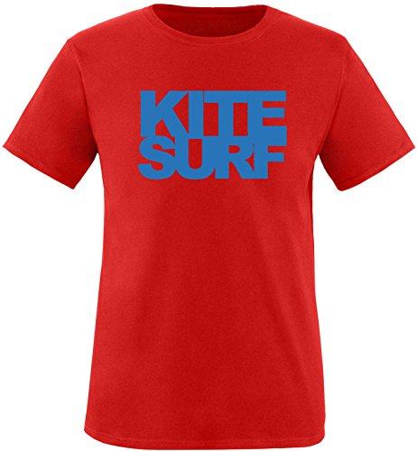 EZYshirt® Kitesurf Herren Rundhals T-Shirt Rot/Blau