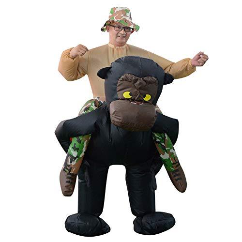 CUHAWUDBA Orang-Utan Aufblasbare Kleidung Spiel Make-Up Tier ZurüCk Mann Spa? Overall Halloween Cosplay AusrüStung Erwachsener -