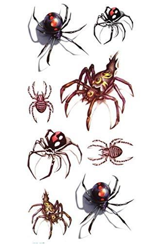 EROSPA® Tattoo-Bogen temporär - Halloween Spinnen - 8 Motive