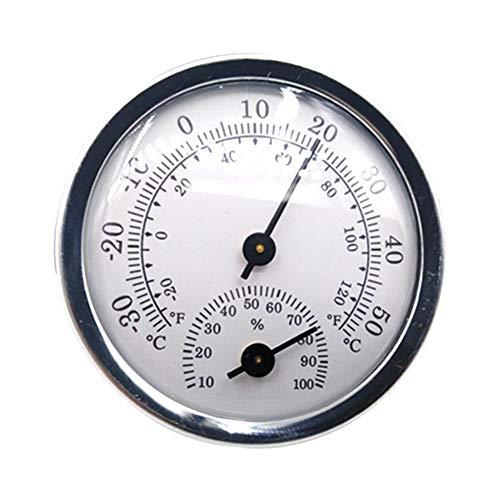 Exuberanter Haushalt Mini Thermo-Hygrometer, Hohe Präzision Monitor Temperatur Und Luftfeuchtigkeit Batterie Zur Messung Der Temperatur Und Luftfeuchtigkeit Im Gewächshaus 57 MM