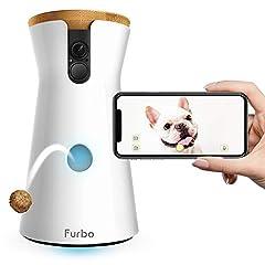 Idea Regalo - Furbo - Videocamera per Cani : Lancio di Croccantini, Telecamera HD WiFi per Animali e Audio Bidirezionale