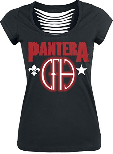 Pantera Cowboys from hell T-shirt Femme noir Noir